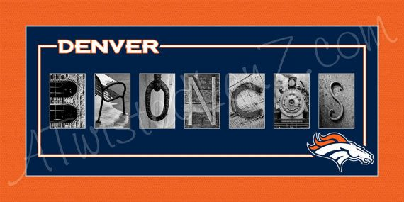 Denver Broncos Football Alphabet Photo by AlphabetphotosbyMP
