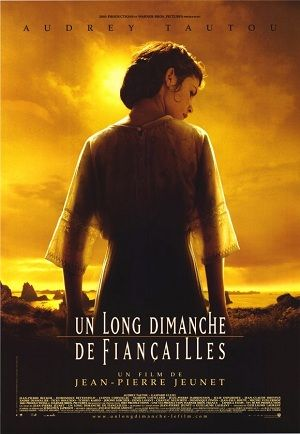 A Very Long Engagement (French: Un long dimanche de fiançailles) is a 2004 French romantic war film, directed by Jean-Pierre Jeunet and starring Audrey Tautou. It is a fictional tale about a young woman's desperate search for her fiancé who might have been killed in the Battle of the Somme, during World War I. It was based on a novel of the same name, written by Sebastien Japrisot, first published in 1991.