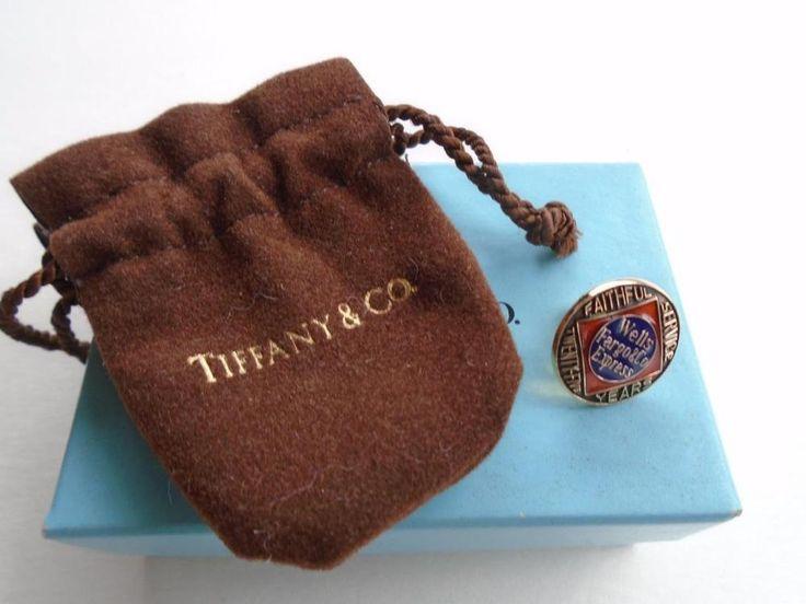 Tiffany and Co 14k Gold Wells Fargo Bank Employee 20 Year Service Pin Award