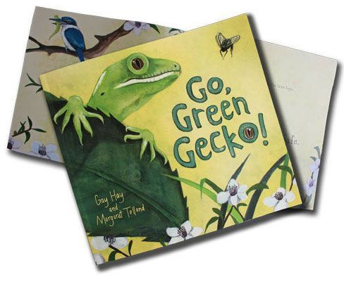 'Go Green Gecko' by Gay Hay and illustrated by Margaret Tolland A te reo edition is available      ISBN : 9780473277918     Publisher : Page Break Ltd Read this with some adapted resources from https://www.sciencelearn.org.nz/resources/1180-saving-reptiles-and-amphibians-introduction