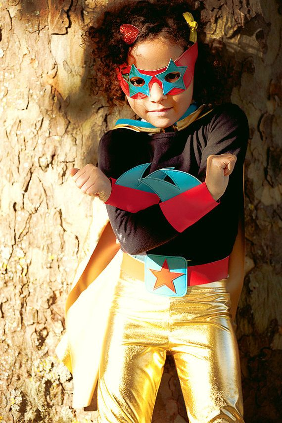 Gold superhero outfit  shiny gold lucha libre outfit by iwishiwasa, £58.00 a girls superhero costume at last!