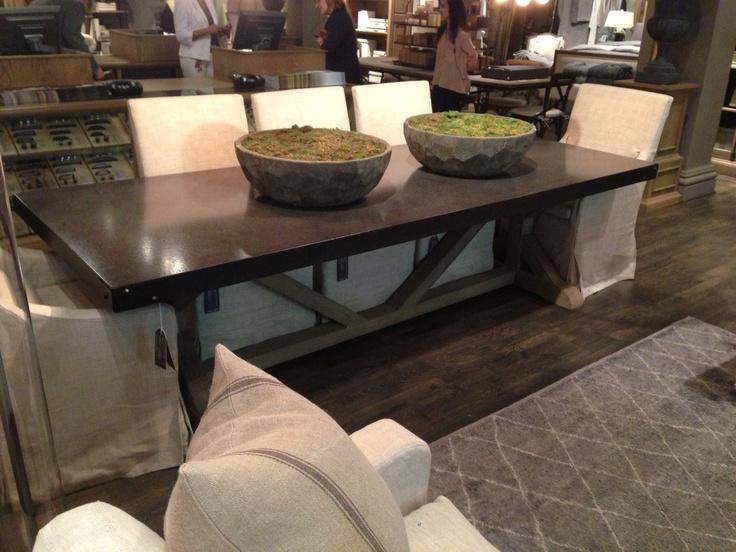 Restoration Hardware Dining Table Living Dining Rooms Pinterest