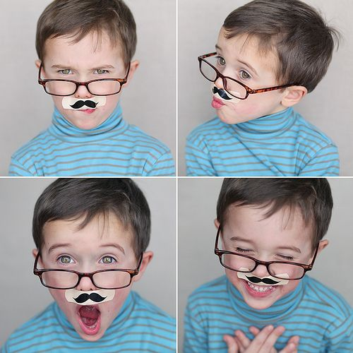 Cutest kid evarrr! #Mustache #Bandaid