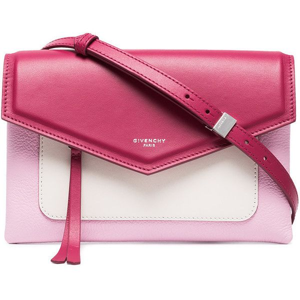 Givenchy bright pink Duetto leather cross-body bag (3,870 MYR) ❤ liked on Polyvore featuring bags, handbags, shoulder bags, envelope clutch, envelope clutch bag, givenchy shoulder bag, givenchy crossbody and genuine leather shoulder bag