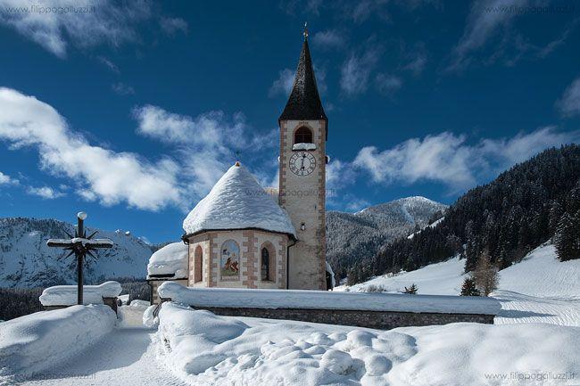 Lago di Braies, Bolzano, Trentino Alto Adige (Italia) Chiesa da Sant'Anna