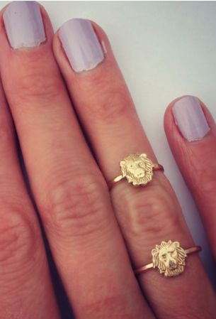 cute lion stacking rings