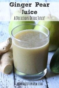 Ginger Pear Detox Juice | Best Hangover Cure | Moms Need To Know ™