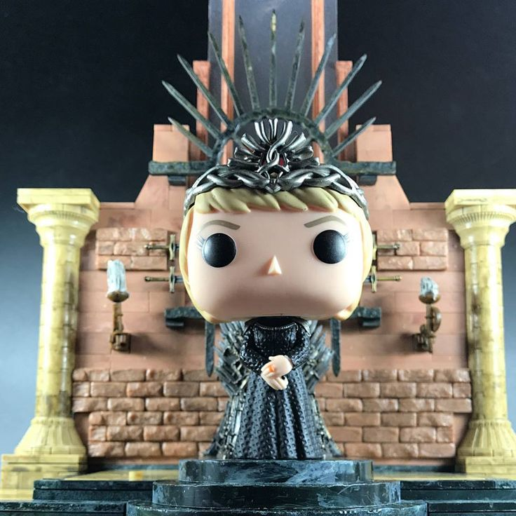 Funko Pop Queen Cersei standing on the Iron Throne by McFarlane toys. Get your Queen of the 7 kingdoms! (click the pic)