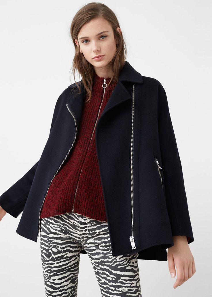 Manteau laine fait main -  Femme | MANGO France
