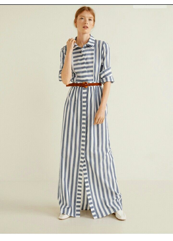 23886c91ae1265 Mango maxi dress | *Zara 2017 ~ 2018 ~ 2019 in 2019 | Striped shirt ...