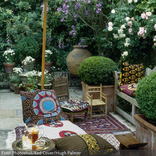 Ethno auf der terrasse garten ideen rund ums haus for Gartengestaltung orientalisch