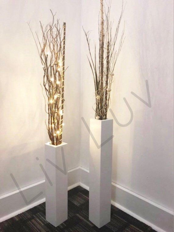 Wood Vase Set Set Of Two Home Decor Wedding Decor Modern Decor
