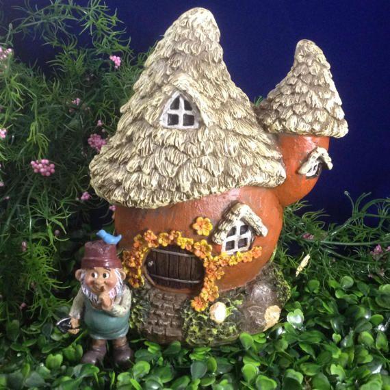 Jardín de hadas casa gnome puerta de hadas hadas hadas