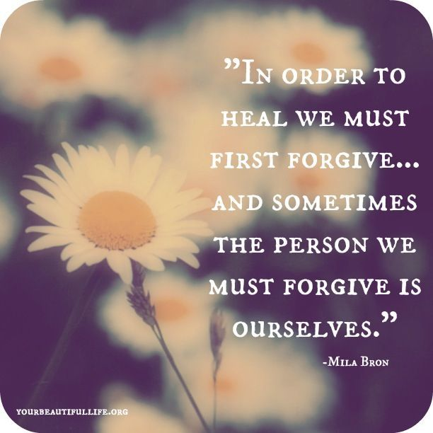 Holding things against others hurts you more than it hurts them. Forgive them and forgive yourself for not letting go sooner. Then your heart can be healed.