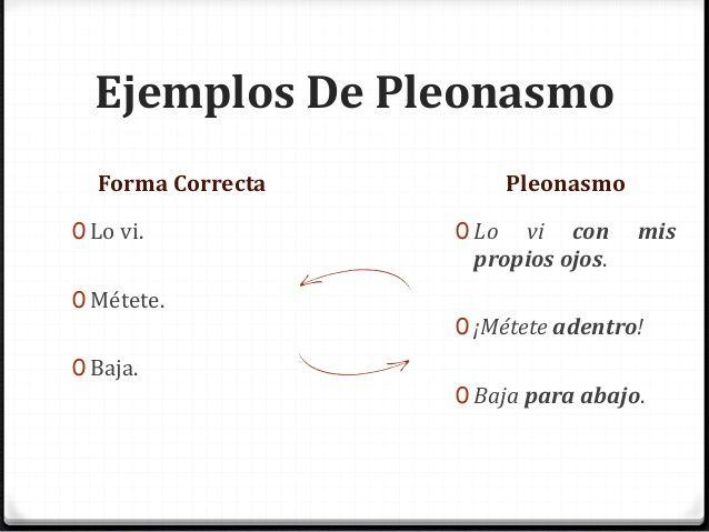 EJEMPLOS DE PLEONASMOS
