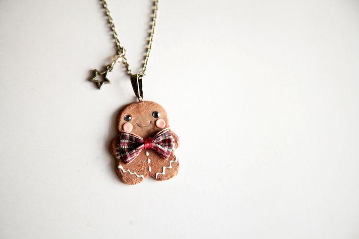 Ilianne | Jewelry Made of Love - Cute Gingerbread Man Pendant