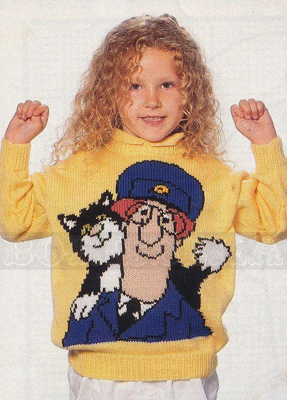 20 best postman pat images on pinterest postman pat jumper and vintage adult childs postman pat jumper knitting by borisbeka 400 dt1010fo
