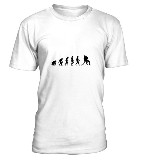 # The Evolution of Hockey .  Get this BEST-SELLING T-ShirtGuaranteed safe and secure payment with:Best quality on the market, great selection of colors and styles!Hockey is a team sport that is played on an ice surface. The aim of the game is to promote the game device, the puck, a small hard rubber disc into the opponents goal.(funny, humor, evolution, Darwin, man, ice hockey, field hockey, Olympic Games, winter sports, ice)