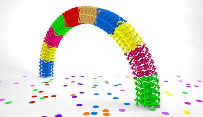 decoración arco de papel para fiestas, una increíble pieza creativa hecha por manos colombianas.