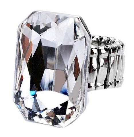 LARGE CRYSTAL STRETCH RING