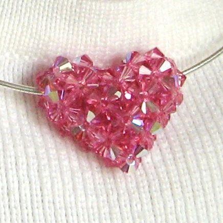 Puffy Heart Pendant | JewelryLessons.com