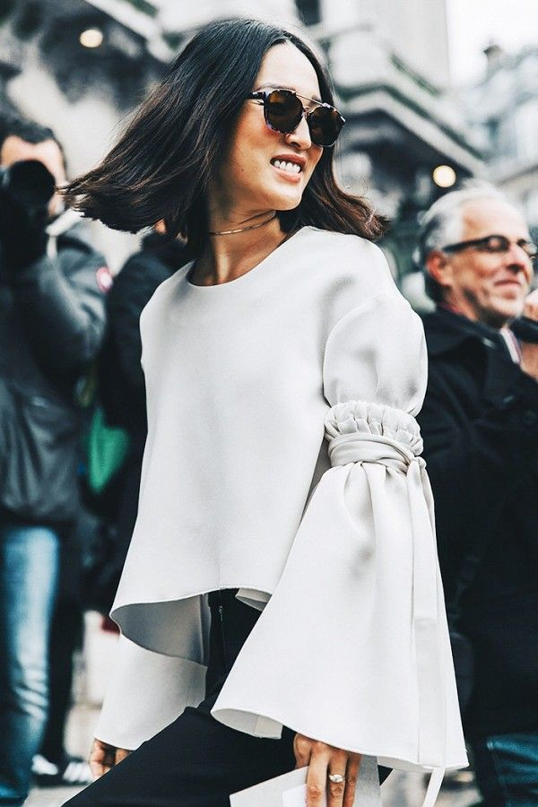 Oversized sleeves are everything right now.