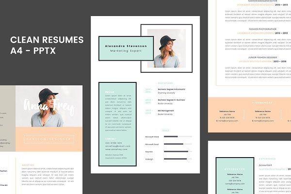 Resume 1.0 - A4 Powerpoint Format