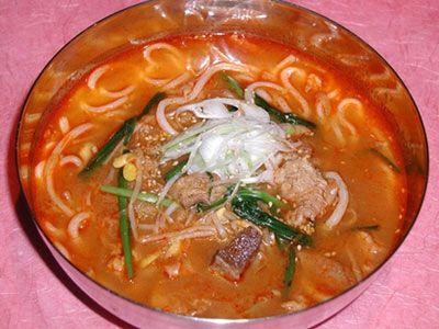 韓国料理レシピ=ユッゲジャンうどん=