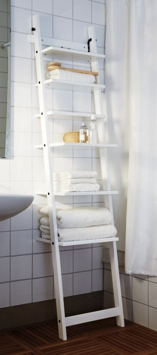 HJÄLMAREN  bathroom furniture gives you space for everything you need – and smart ways to organize it all.