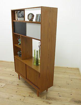 Retro 60s Schreiber Room Divider Displey Cabinet Sidebaord Danish Style