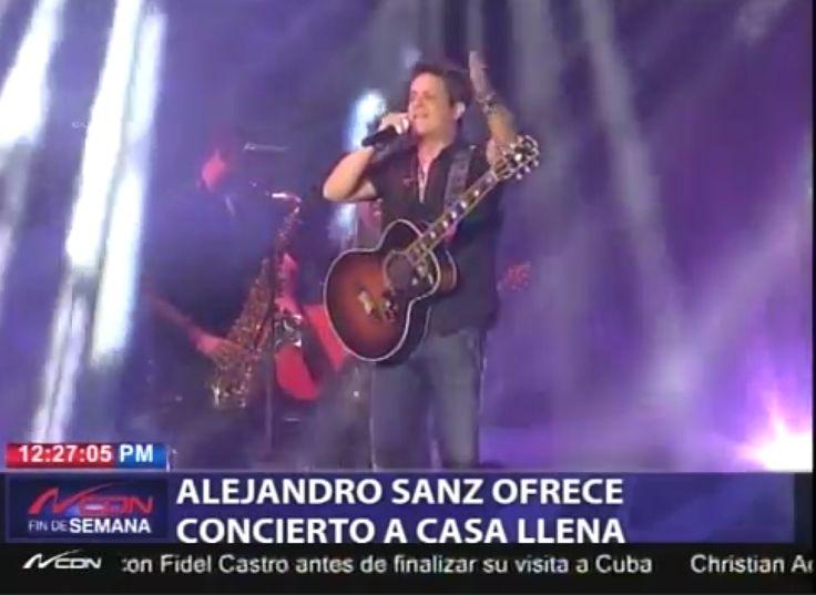 Alejandro Sanz Ofreció Un Gran Concierto A Casa Llena Para Su Público Dominicano