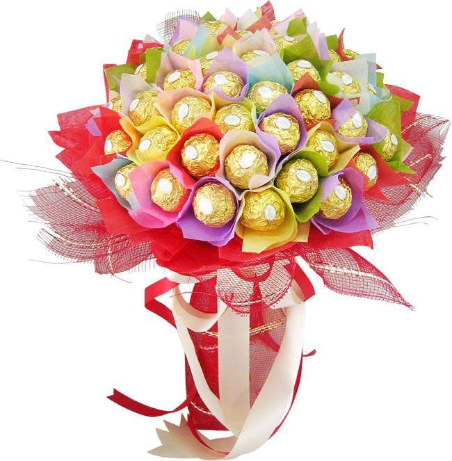 Bouquet of 50 pcs. ferrero chocolate