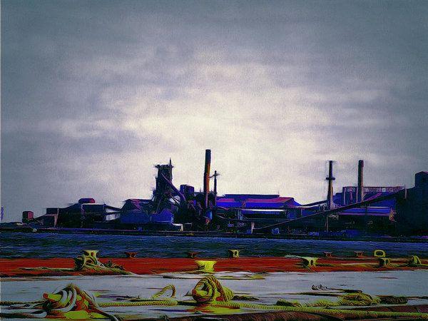 Hamilton Harbor- Steel Company Art Print by Leslie Montgomery.