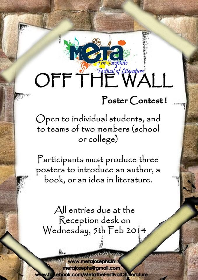 OFF THE WALL Poster contest. All entries due on Wednesday 5th Feb