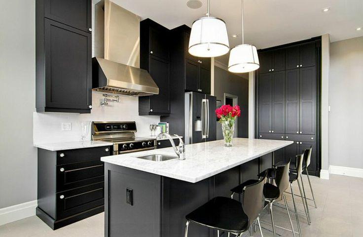 modelos de cocinas negro y blanco