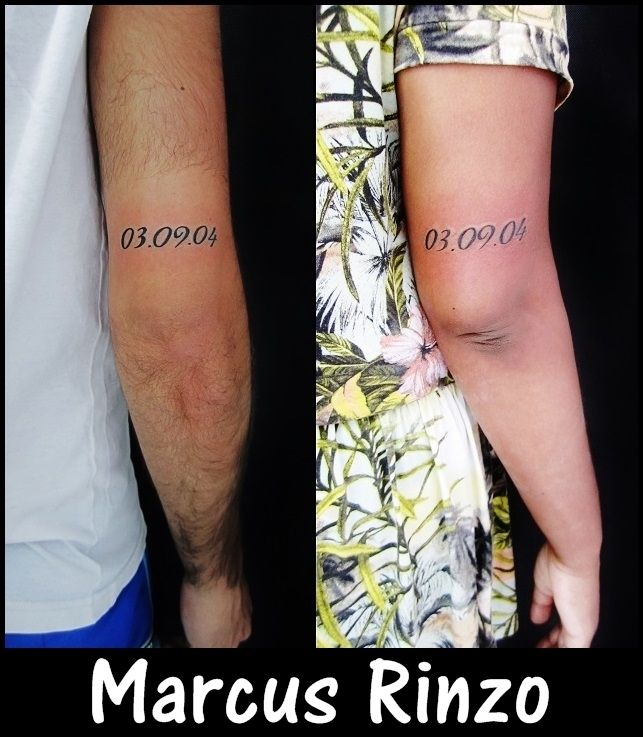 tatuagem do casal... data de casamento.