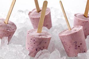 Banana-Berry Yogurt Pops recipe