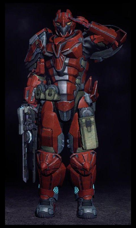 Heavy armor sci-fi soldier