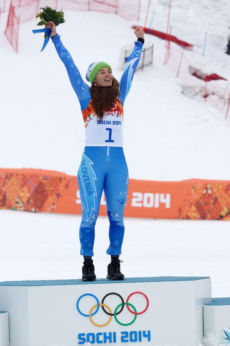 great Tina Maze, second gold medal <3 #Sochi, (A. Fevžer)
