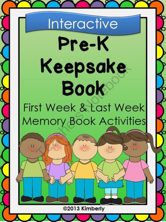 Pre-K Keepsake Book (First Week-Last Week Activities) from By Kimberly on TeachersNotebook.com -  - Pre-K Keepsake Book (First Week-Last Week Activities)  This keepsake book/project is a wonderful way to start the school year, as well as finish out the year. The book has pages to be filled out during the first week of school and then again during the la