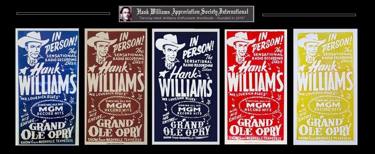 Hank's Grand Ole Opry concert posters