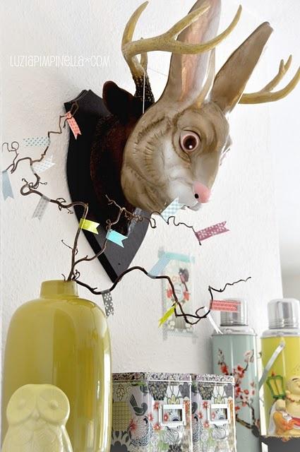 spring has sprung! #easter #spring #decoration #home #luziapimpinella #blog #masking #tape