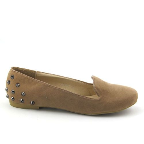 NEW WOMENS FLAT STUDDED LOAFERS LADIES SUEDE PUMPS SLIPPERS CASUAL SHOES SIZE | eBay