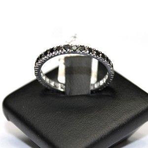 Anello Veretta Diamanti Neri 0,78 ct.