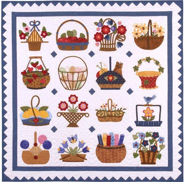 Sixteen Baskets by Kay MacKenzie quiltinspiration.blogspot.com