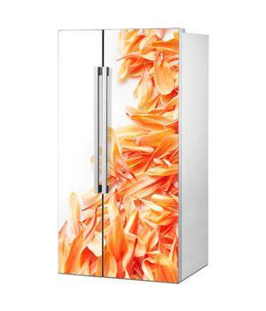 Mata magnetyczna na lodówkę side by side - Płatki kwiatów 0789