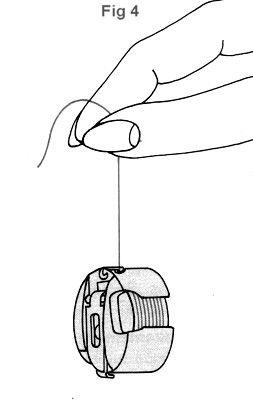 Bobbin tension: 'If the bobbin case moves downward by just