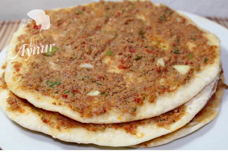 Türkische Pizza in der Pfannen-tavada kolay lahmacun tarifi   Aynur's Welt – Aynurun dünyasi