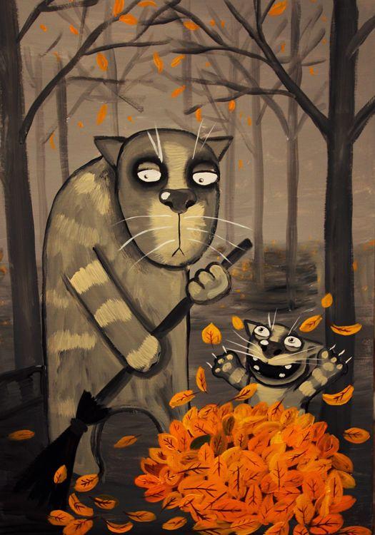 Для любимого, осень рисунки прикольные