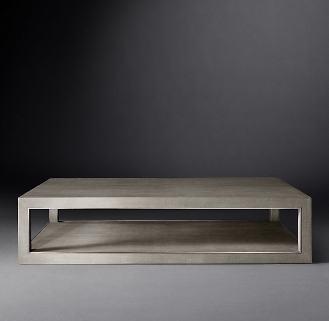 Cela Shagreen Rectangular Coffee Table In 2019 Leather Coffee